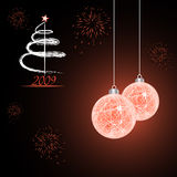 New Year 2009 celebration. Vector card Royalty Free Stock Photo