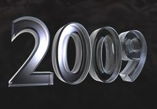 New year 2009 in glass (3D). New year 2009 in glass (3D made stock illustration
