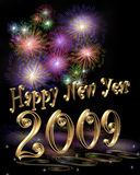 New Year 2009 Illustration 3D Royalty Free Stock Photo