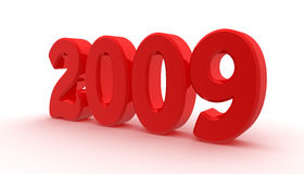New year 2009 is near. Digitally generated image: new year 2009 is coming Royalty Free Stock Photography