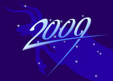 New year 2009 sign. On taurus and stars background Royalty Free Illustration