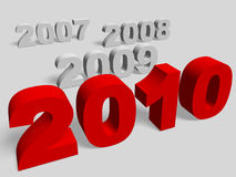 New year 2010. 3d render. Very High resolution Stock Image