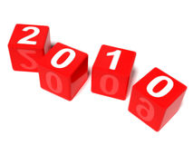 The new year 2010. A computer generated image representing the new year 2010 in dices and the year 2009 in the reflection Stock Image