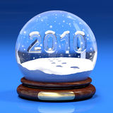 The new year 2010. A computer generated image representing the new year 2010 in glass ball Stock Images