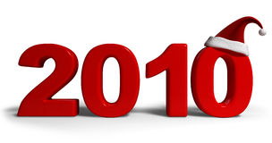 NEW YEAR 2010. 2010 new year date and red color stock illustration