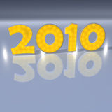 New Year 2010. In light (Yellow Royalty Free Stock Image