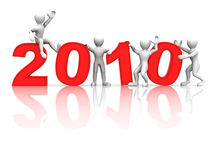 New Year. 2010. 3d Very beautiful three-dimensional illustration Royalty Free Stock Images