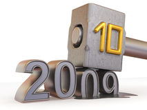 New Year. 2010. 3d Very beautiful three-dimensional illustration stock illustration