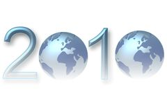 New year 2010. 2010 happy new year earth background Stock Illustration
