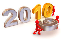 New Year. 2010. On white background. 3d Royalty Free Stock Photo