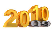 New Year. 2010. New Year on white background. 2010. 3d Stock Images