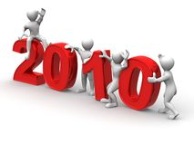 New Year. 2010. New Year on white background. 2010. 3d Royalty Free Stock Image