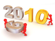 New Year. 2010. 3d on white background royalty free illustration