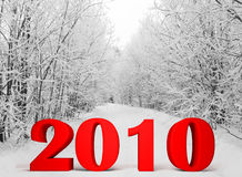 New Year 2010. Congratulation happy New Year 2010 3d image Stock Photo