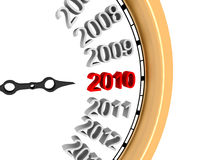 New Year 2010. A 3d image of new year's clock of 2010 Royalty Free Stock Image