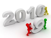 New Year. 2010. On white background. 3d Stock Photos