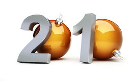 New year 2010. On a white background Royalty Free Stock Photo