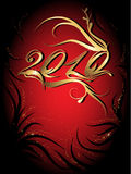 New year 2010. Vector floral design,new year 2010 Stock Photos