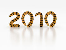New year 2010. The year of a tiger Stock Photography