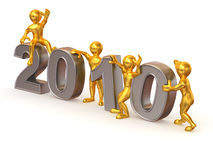 New Year. 2010. On white background. 3d Royalty Free Stock Photography