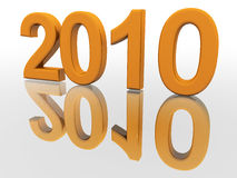 New Year 2010. Happy holiday New Year 2010 Stock Images