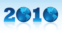 New year 2010 in the all world. Vector EPS Royalty Free Stock Photo