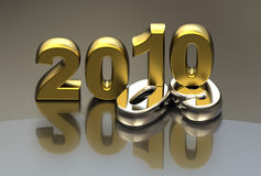 New year 2010 background. 3d vnew year 2010 shape Stock Images