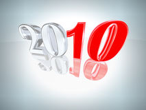 New Year 2010 background. 3D inscription 2010 with a reflection Stock Photo