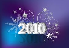 New year 2010_card Stock Photo