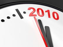 The new year 2010 in a clock. A computer generated image representing the new year 2010 in a clock Royalty Free Stock Photography