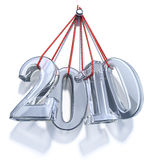 New Year 2010 ice numbers Royalty Free Stock Photos