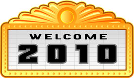 New year 2010 sign Stock Images