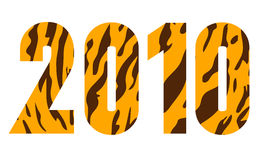 New year 2010 year of tiger icon Royalty Free Stock Images