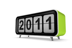 New year 2011. Concept in 3d Royalty Free Stock Photography