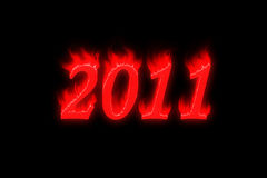 New Year 2011. Year 2011 on black background Royalty Free Stock Photo