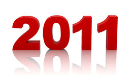 New year 2011. With clipping path Stock Images