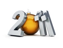 New year 2011. On a white background Royalty Free Stock Photography
