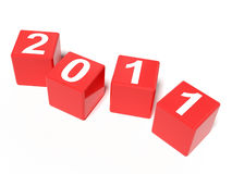 The new year 2011. A computer generated image representing the new year 2011 in dices Stock Photo