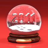 The new year 2011. A computer generated image representing the new year 2011 in glass ball vector illustration