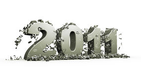 New year 2011. Concept in 3d royalty free illustration