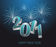 New year - 2011. Illustration welcoming the New year - 2011 Royalty Free Stock Photo