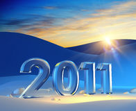 New year 2011. 3d render Stock Images