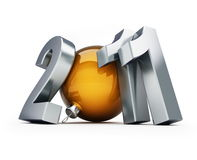 New year 2011. On a white background royalty free illustration