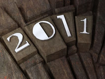 The new year 2011 Stock Photo