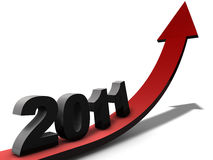 New Year 2011. A positive view on the year 2011 Royalty Free Stock Photography