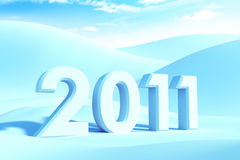 New year 2011. 3d render stock illustration