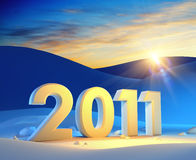 New year 2011. 3d render Royalty Free Stock Image