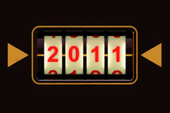 The new year 2011 Royalty Free Stock Photo