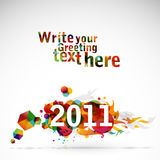 New Year 2011. Creative 2011 greeting card / poster stock illustration