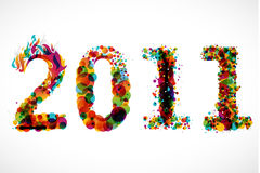 New Year 2011. Creative 2011 greeting card / poster Royalty Free Stock Photo